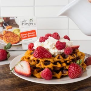 sweet potato hash brown waffles from Dr. Praeger's