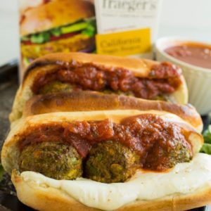 veggie burger meatball sandwich recipe from Dr. Praeger's
