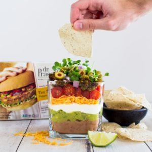 seven layer dip recipe from Dr. Praeger's