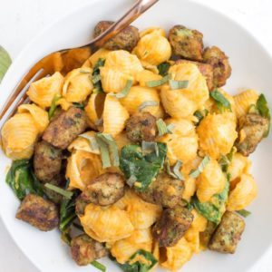 Dr. Praeger's Pumpkin Pasta with Kale Puffs