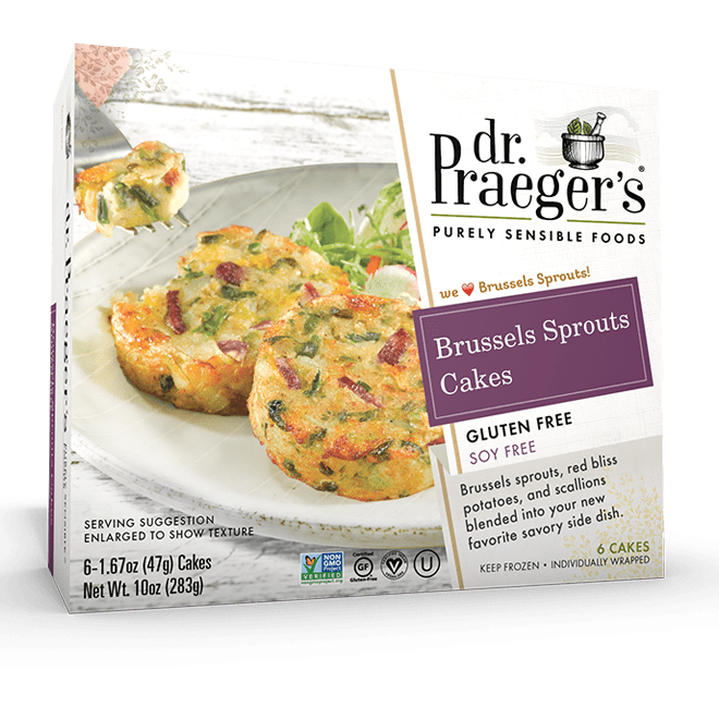 Dr. Praeger's Brussels Sprouts Cakes