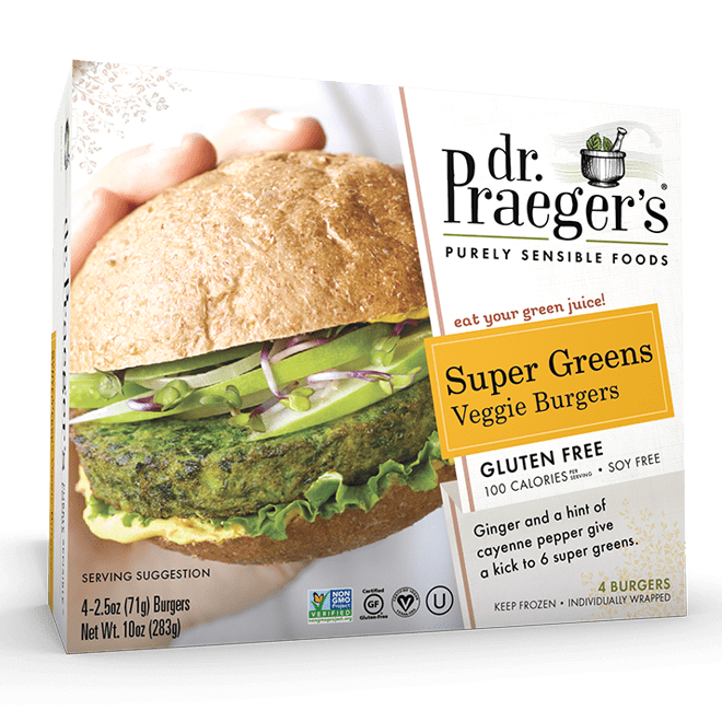 Dr. Praeger's Super Greens Veggie Burgers