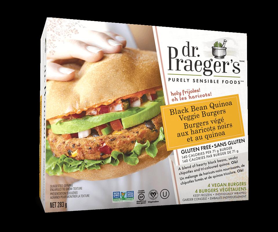 Dr. Praeger's Canada Black Bean Quinoa Veggie Burgers