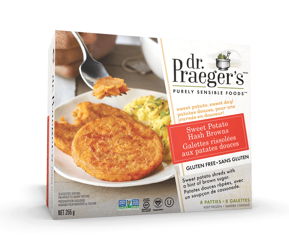 Dr. Praeger's Canada Sweet Potato Hash Browns