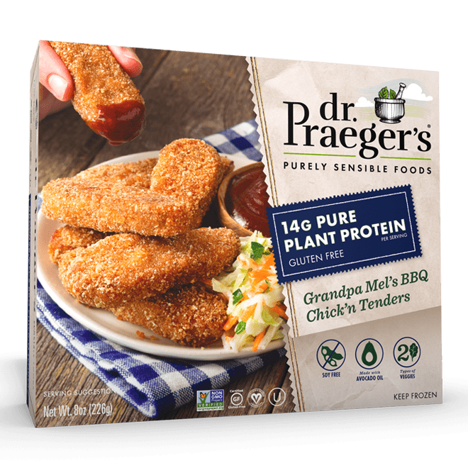 Dr. Praeger's Pure Plant Protein Grandpa Mel's BBQ Chick'n Tenders Package