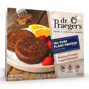 Dr. Praeger's Pure Plant Protein Sunday Funday Veggie Sausages Package