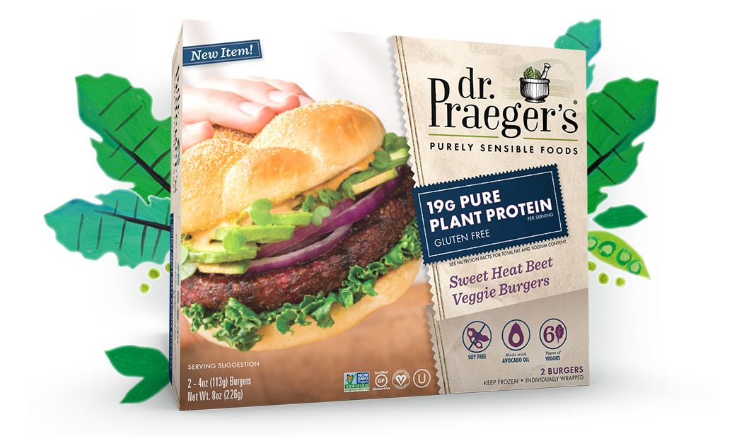 Dr. Praeger's Sweet Heat Beet Veggie Burgers PURE PLANT PROTEIN