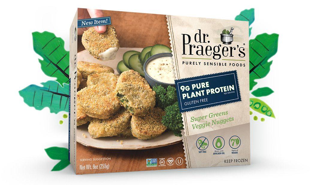 Dr. Praeger's Super Greens Veggie Nuggets PURE PLANT PROTEIN