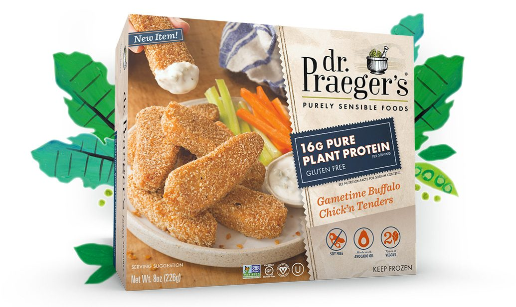 Dr. Praeger's Gametime Buffalo Chick'n Tenders PURE PLANT PROTEIN