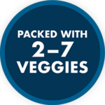 each frozen meal or snack contains up to 7 veggies