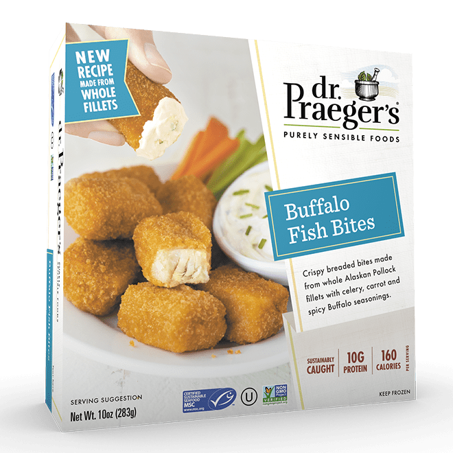 Dr. Praeger's Buffalo Fish Bites Package