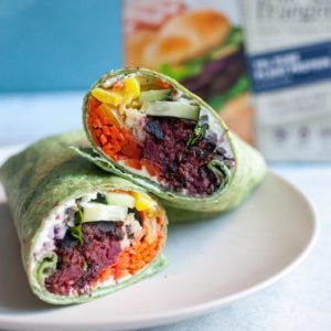 Dr. Praeger's Sweet Heat Beet Burger Wraps