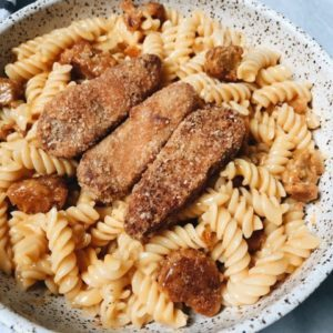 Vegan Dr. Praeger's Buffalo Chick'n Tenders Mac & Cheese