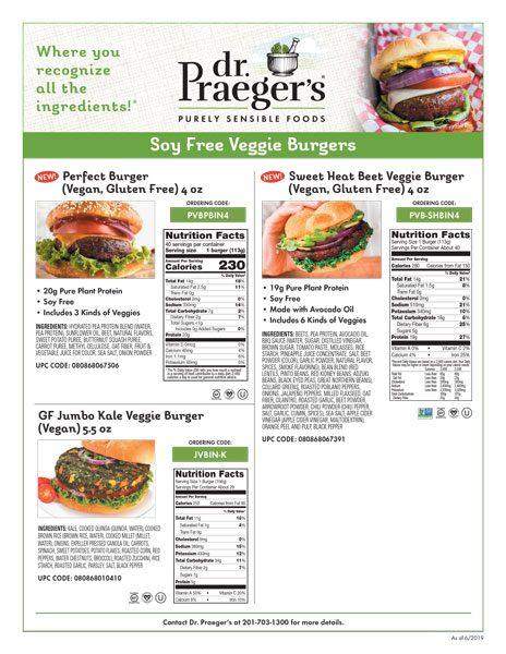 Dr. Praeger's Foodservice Soy Free Veggie Burgers