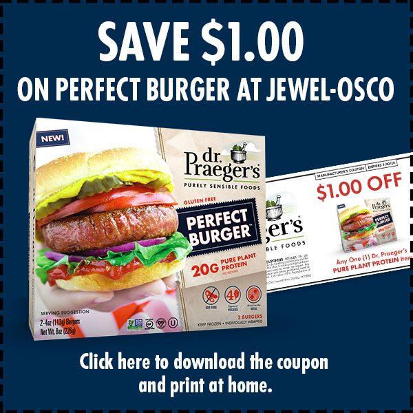 Dr. Praeger's Perfect Burger at Jewel Coupon image