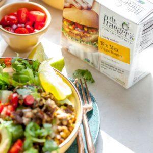 Meal Prep Veggie Burger Taco Salad
