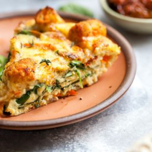 Tuscan Veggie and Cheese Frittata