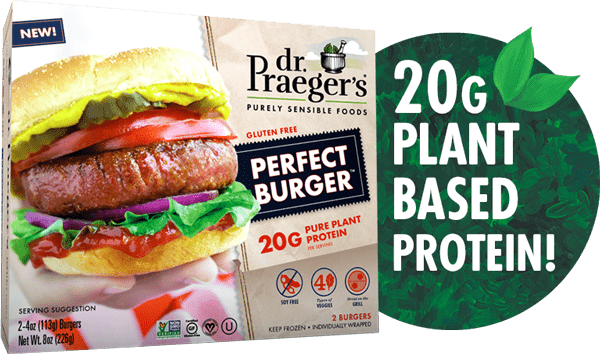 Dr Praeger's Perfect Burger Protein Callout Image