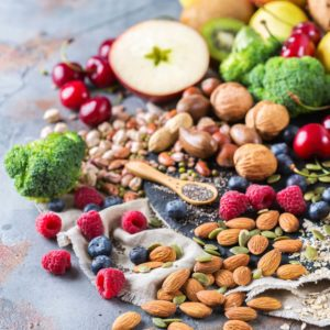 assortment of healthy foods featuring macronutrient