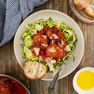 Dr. Praeger's Perfect Ground Plant-Based Meatballs and Zoodles Recipe Image