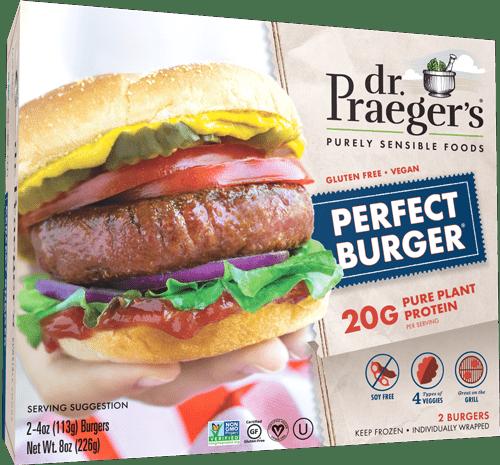 perfect burger dr praegers meat alternative patty