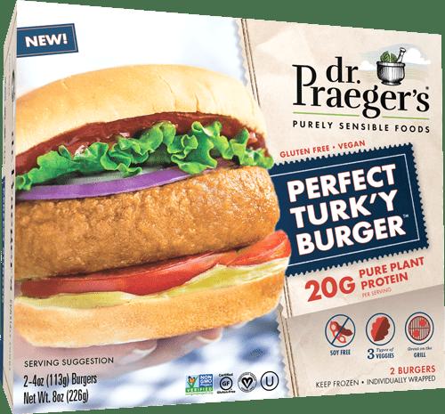 perfect turkey burger dr praegers meat alternative patty