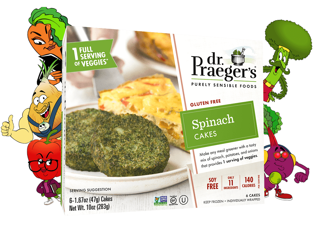 Dr. Praeger's Spinach Cakes Package