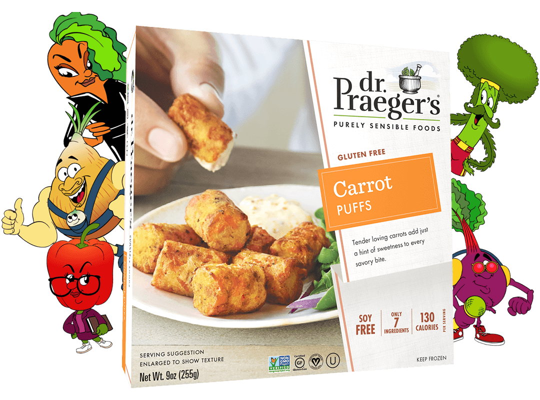 Dr. Praeger's Carrot Puffs Package