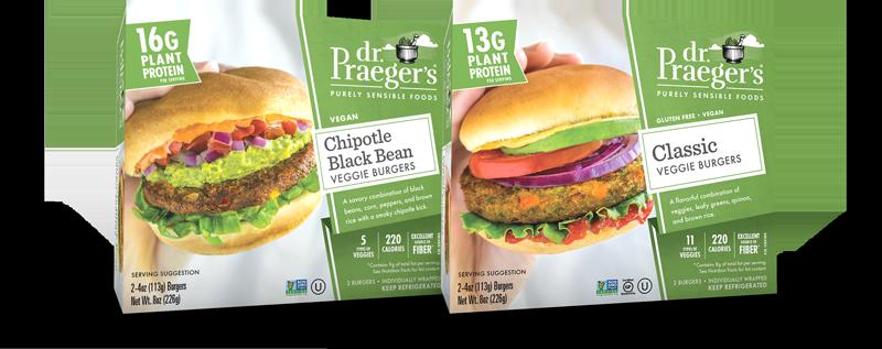 Dr. Praeger's Walmart Veggie Burgers Boxes