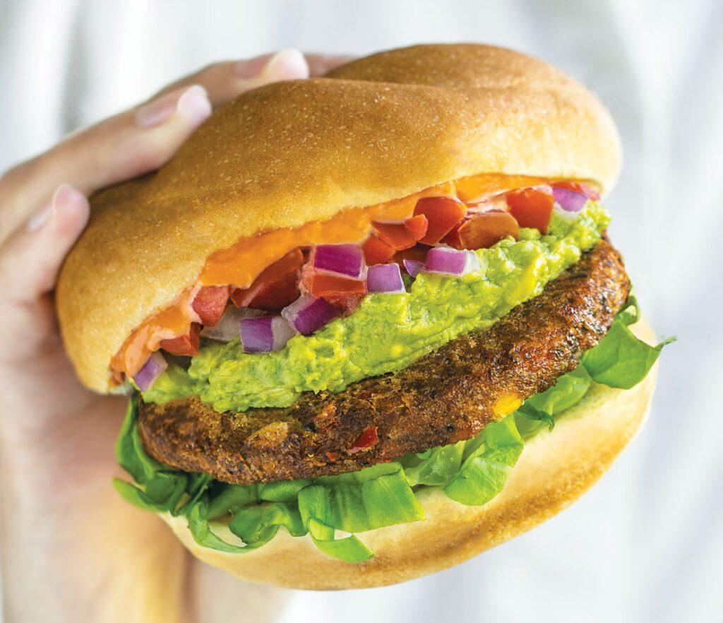 Dr. Praeger's Chipotle Black Bean Veggie Burgers Hero Image