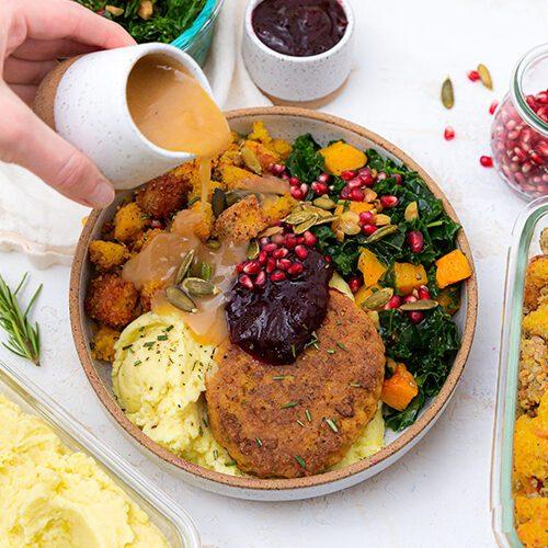 Dr. Praeger's Vegan Thanksgiving Turk'y Bowl Recipe Image