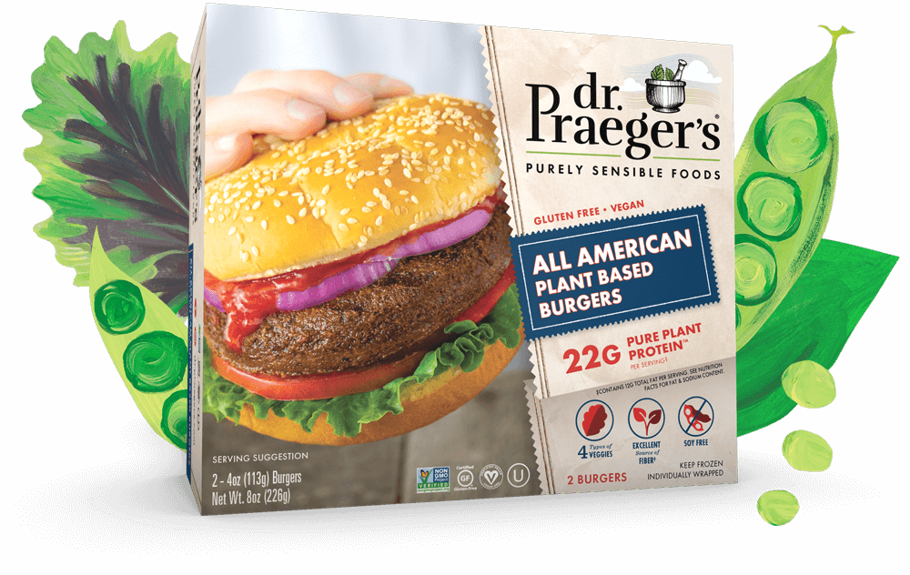 Dr. Praeger's All American Plant Based Burger PURE PLANT PROTEIN