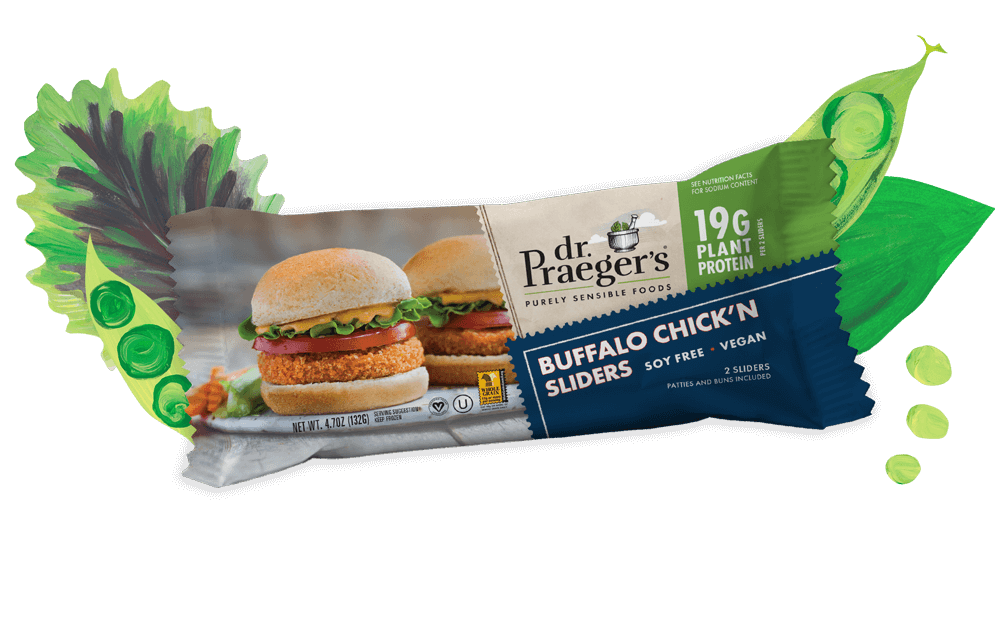 Dr. Praeger's Buffalo Chick'n Sliders Pure Plant Protein