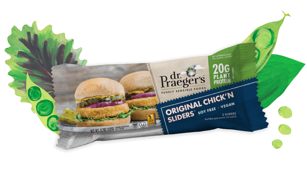 Dr. Praeger's Original Chick'n Sliders Pure Plant Protein