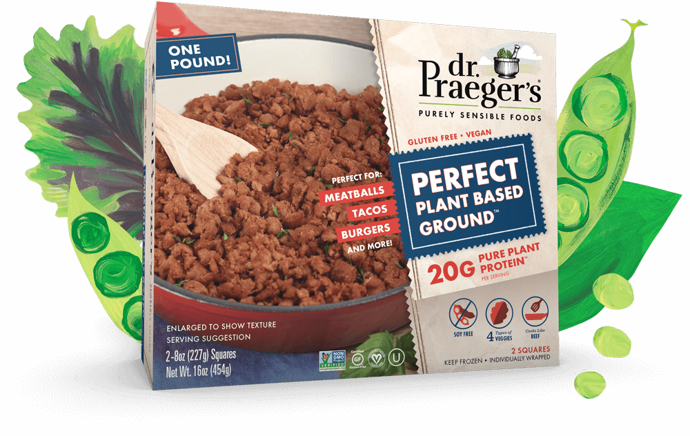Dr. Praeger's Perfect Plant Based Ground Pure Plant Protein