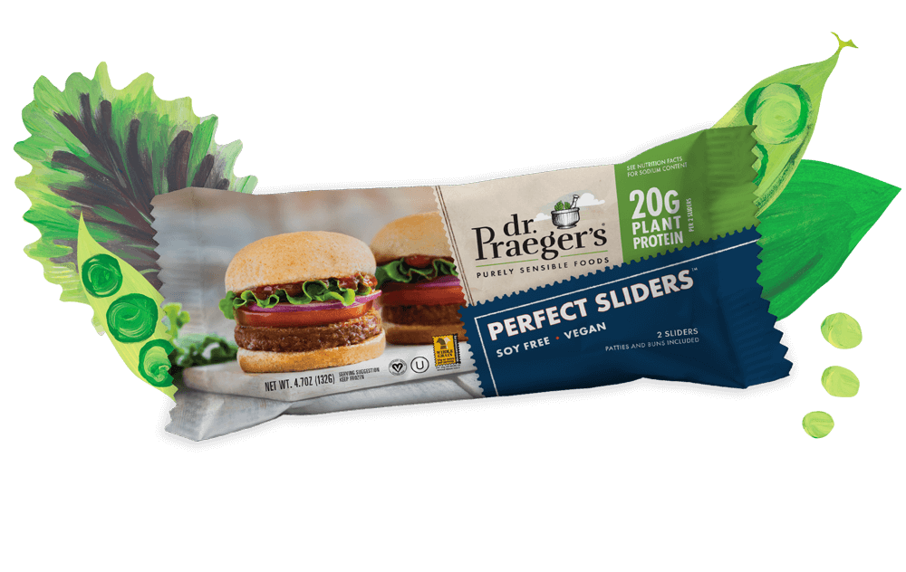 . Praeger's Perfect Sliders Pure Plant Protein