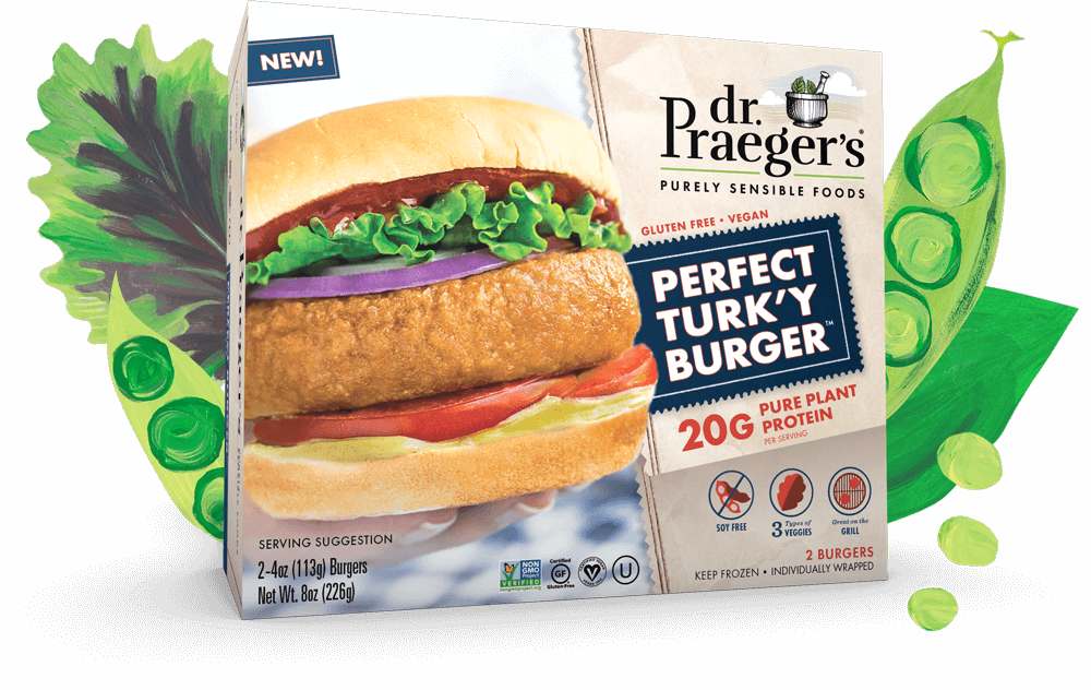 Dr. Praeger's Perfect Turky Burger Pure Plant Protein
