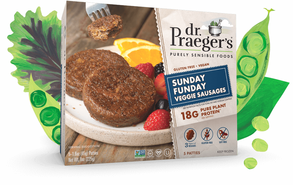 Dr. Praeger's Sunday Funday Veggie Sausages PURE PLANT PROTEIN